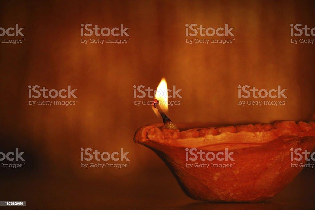 Diya - Concept of celebration stock photo