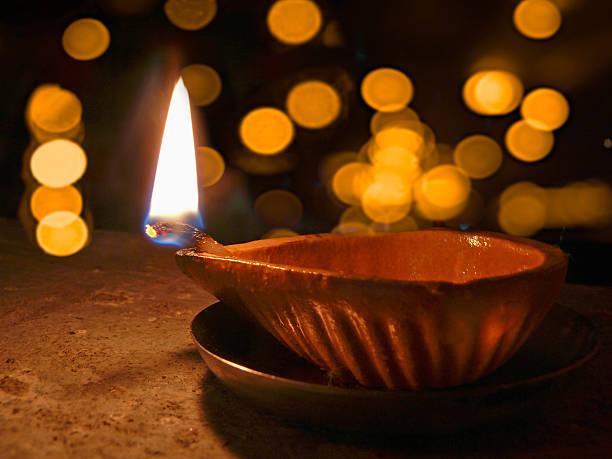 Diya, Flame stock photo