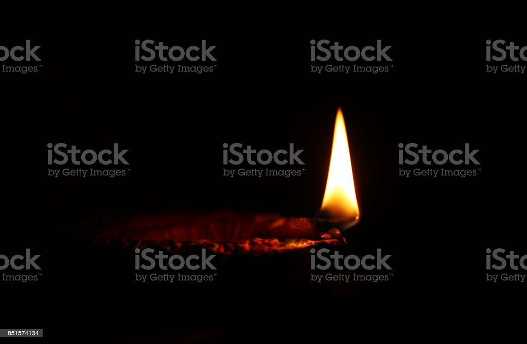 Diya (Oil Lamp) stock photo