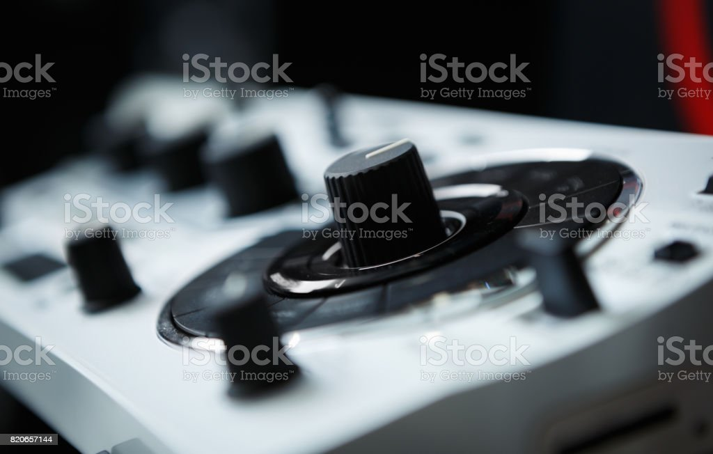 Dj audio equipment stock photo
