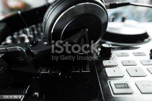 istock Dj equipment 1031979918