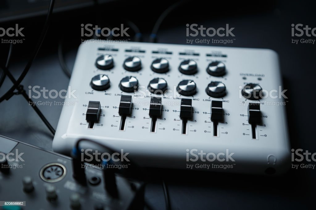 Dj midi controller stock photo