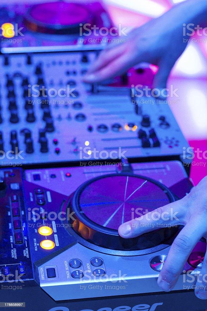 Dj Mixer Consolle stock photo
