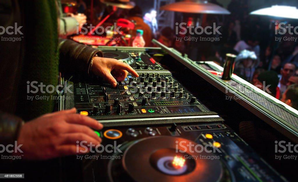 Dj Mixer stock photo