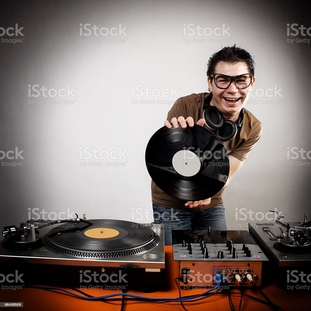 Dj playing royalty-free stock photo