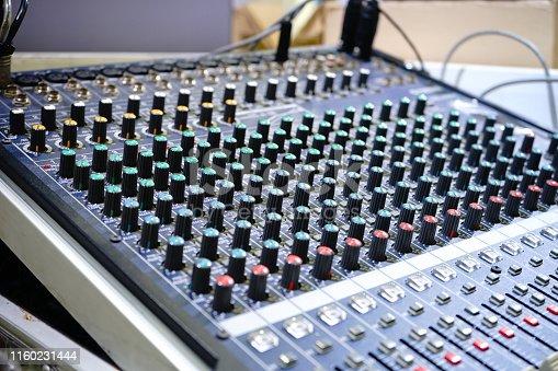 istock Dj Sound equipment 1160231444