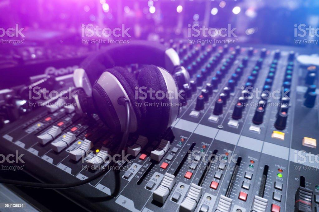 Dj Sound Mixer Close-Up stock photo