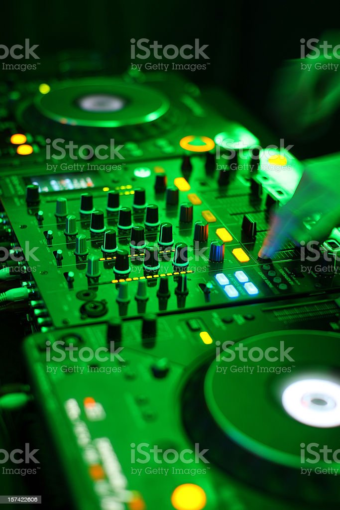 Dj table royalty-free stock photo