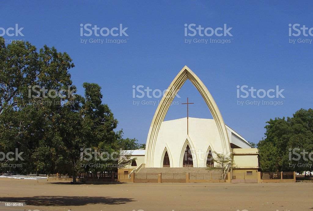 N'Djamena, Chad: Notre Dame de la Paix Catholic Cathedral royalty-free stock photo
