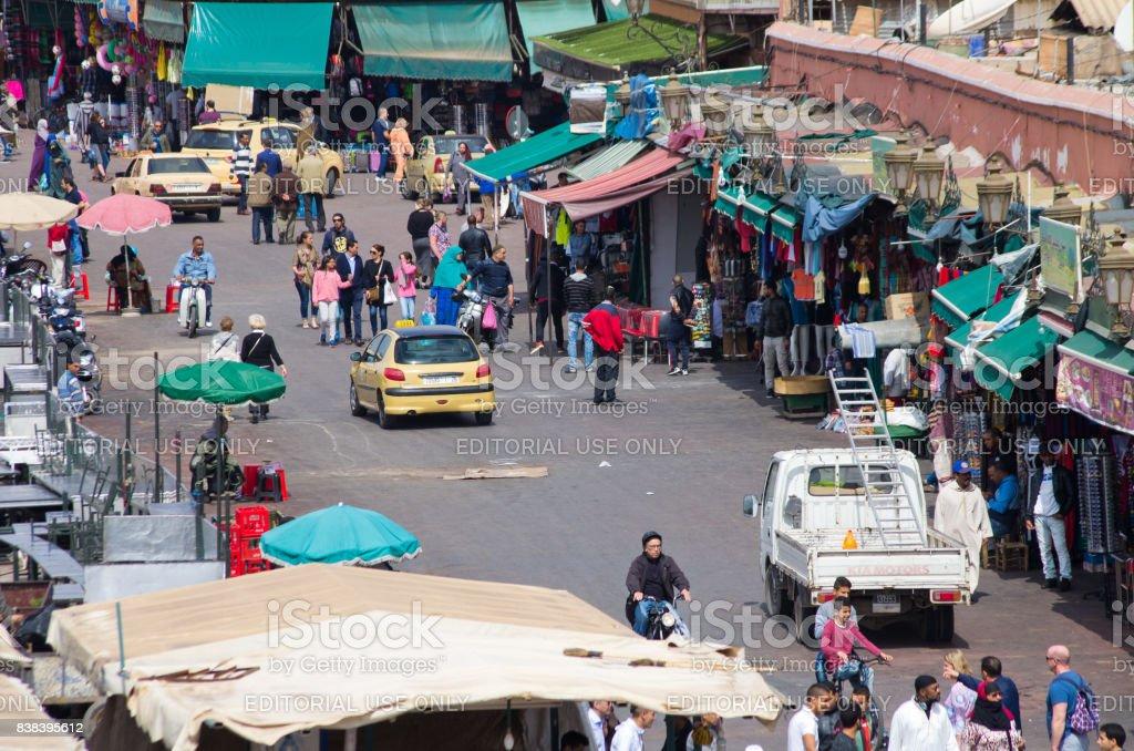 Djemaa el Fna Square, Marrakech stock photo