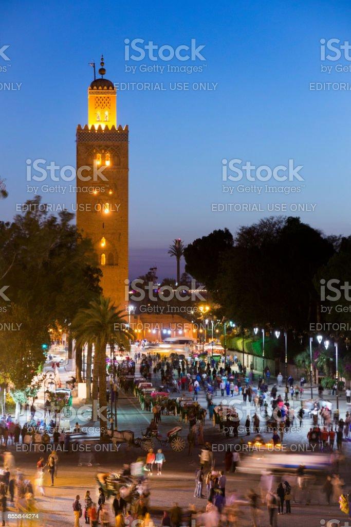 Djemaa en Fna Marrakesh Morocco stock photo