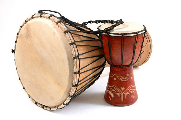 Djembe Drum Groove stock photo