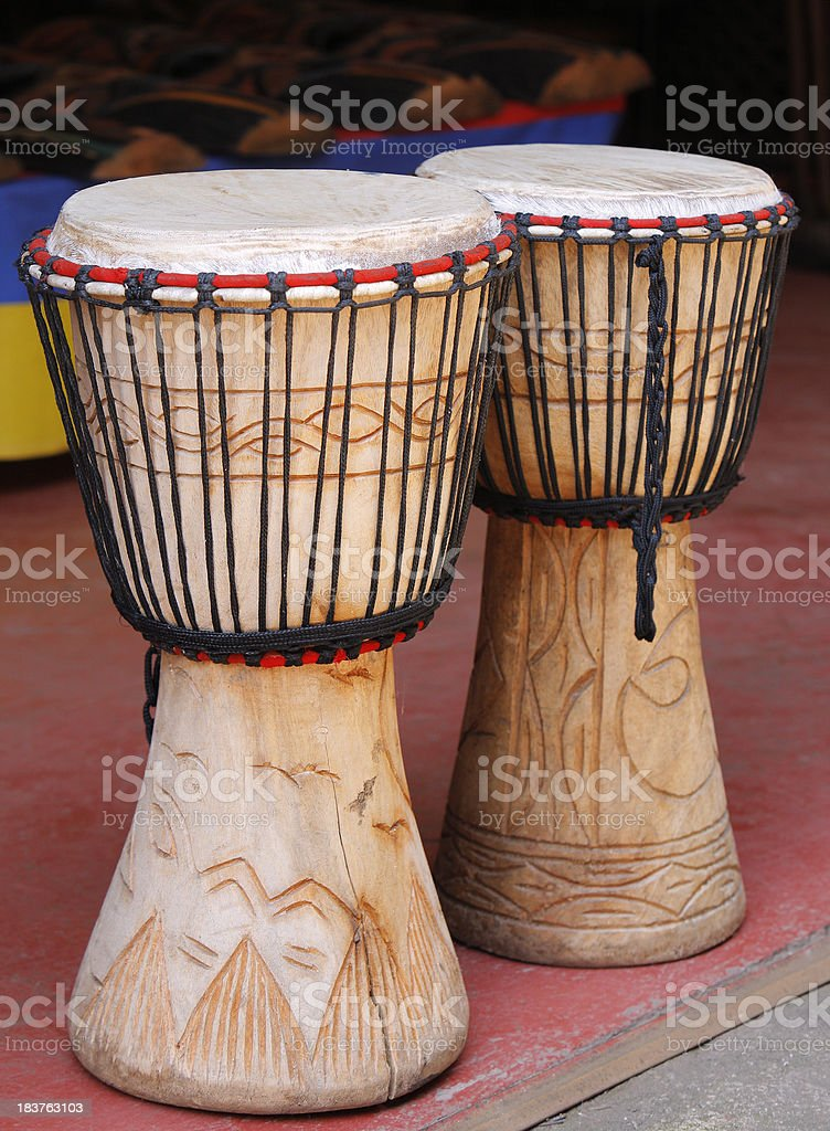 Djembe Drums South Africa royalty-free stock photo