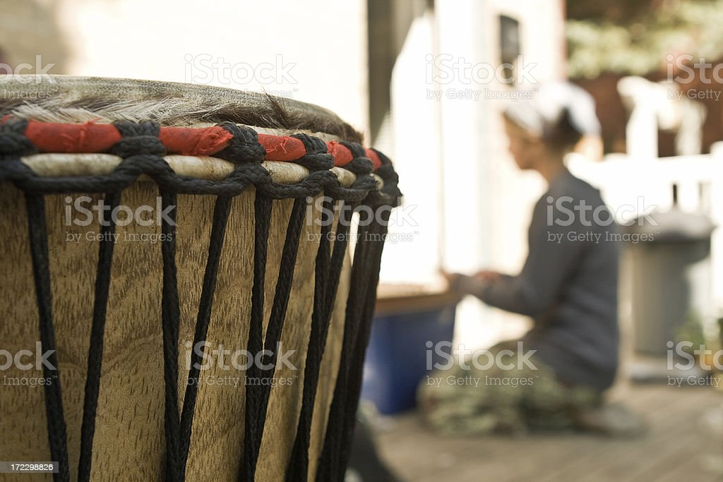 djembe hand drum royalty-free stock photo