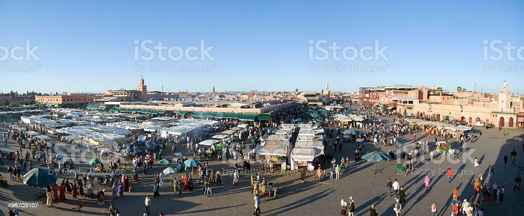 Djemma El Fna Square in Marrakesh stock photo
