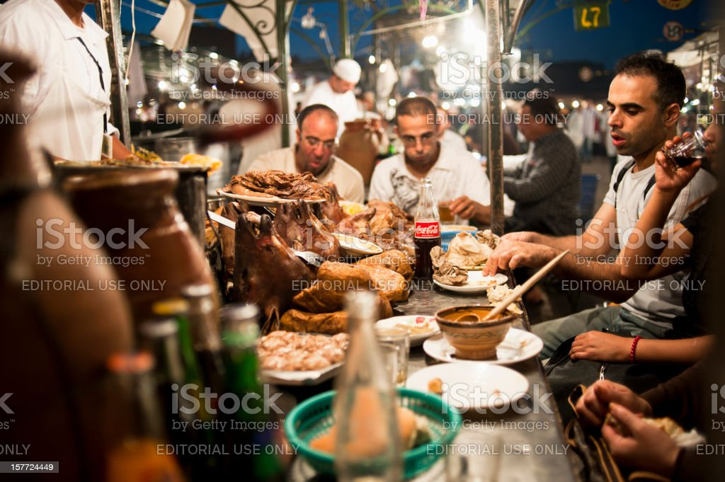 Djemma El Fna Square royalty-free stock photo