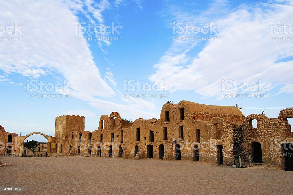 Djerba Island Tunisian houses stock photo