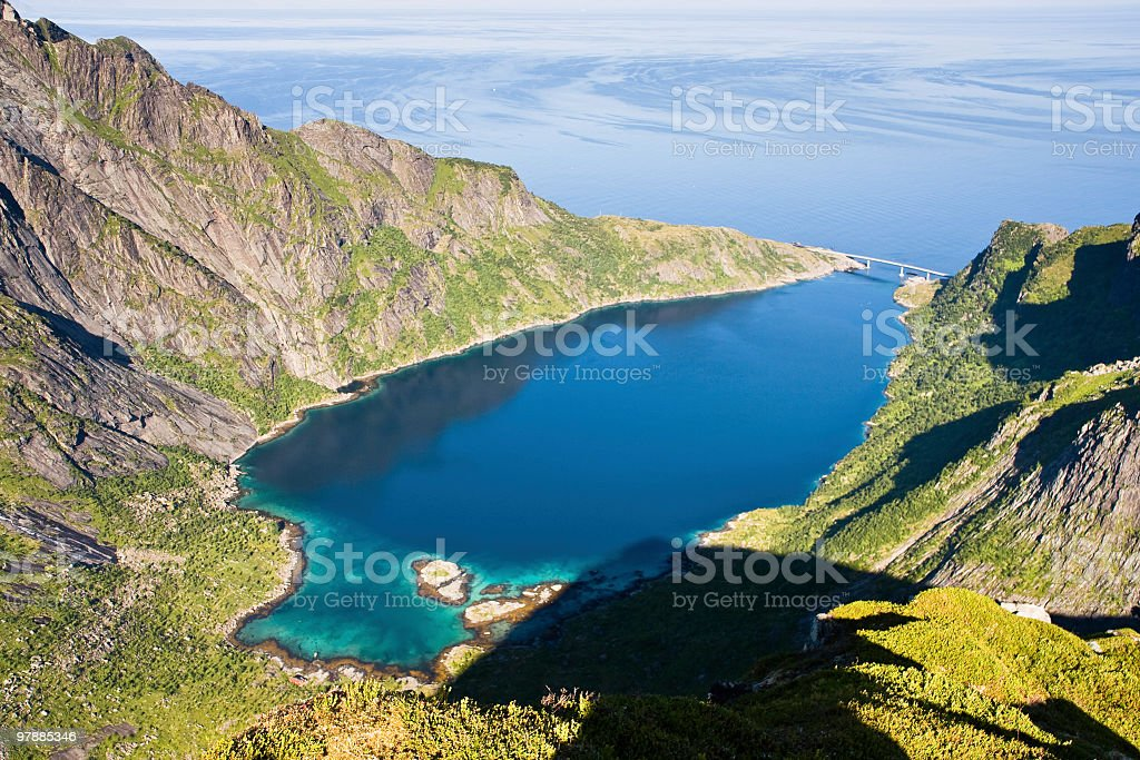 Djupfjord In Lofoten royalty-free stock photo