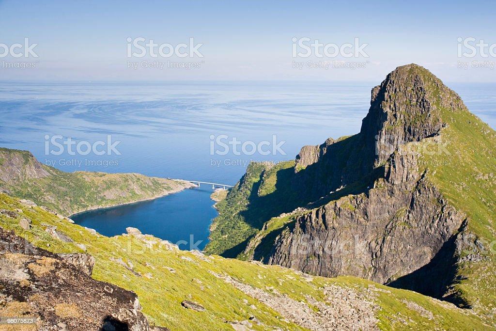 Djupfjord In Lofoten foto stock royalty-free