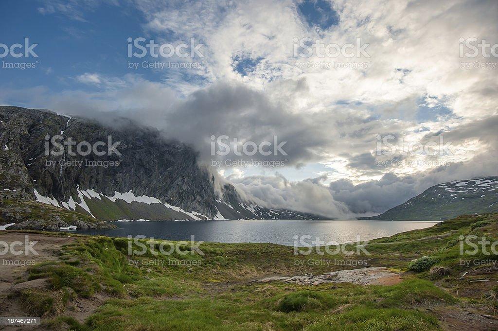 Djupvatnet lake, Norway royalty-free stock photo
