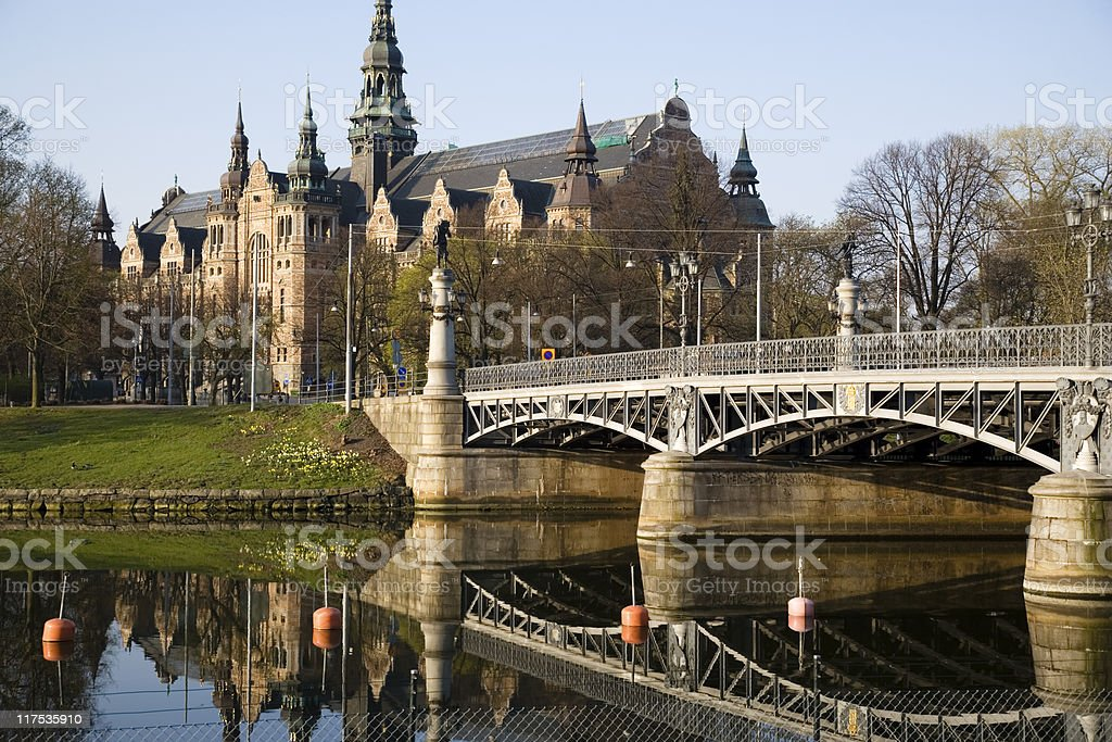 Djurgarden in Stockholm, Sweden royalty-free stock photo