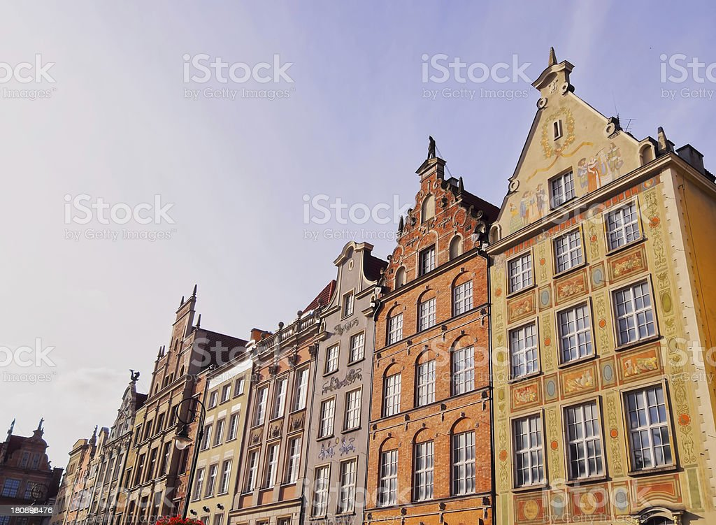 Dlugi Targ Street in Gdansk, Poland royalty-free stock photo
