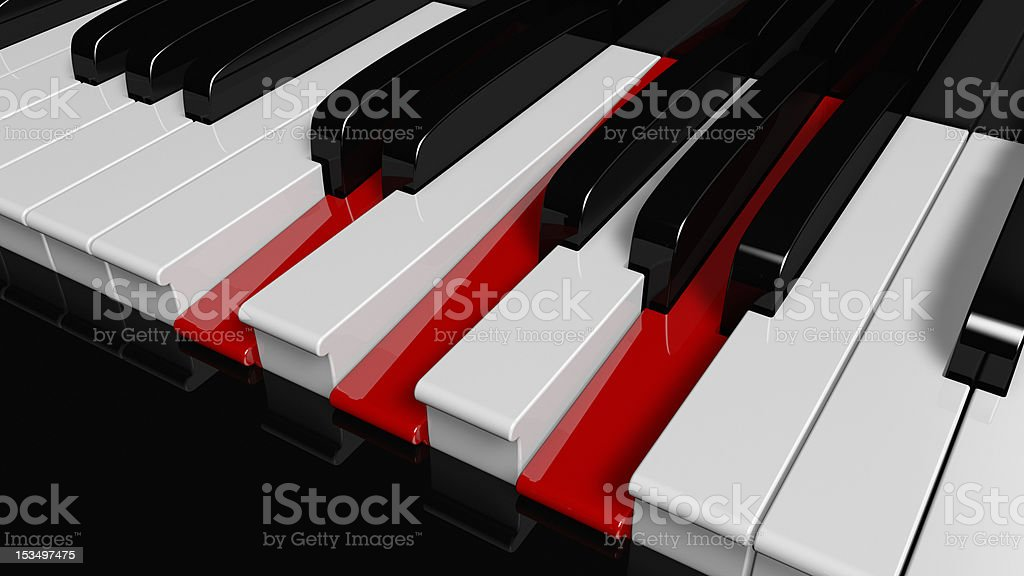 D-Minor piano chord stock photo