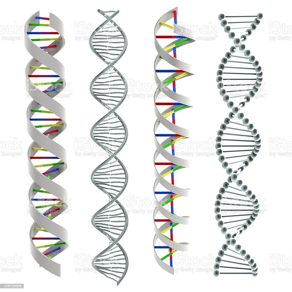 Dna Helixes stock photo