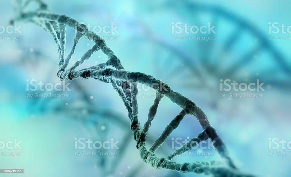 dna strand stock photo