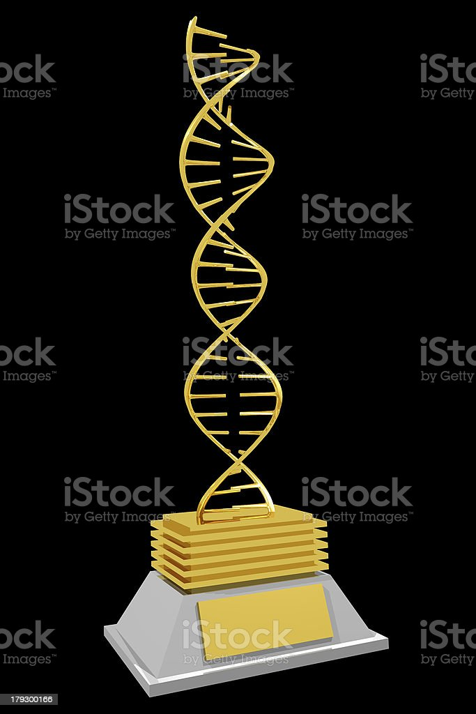 Dna trophy (3D) royalty-free stock photo