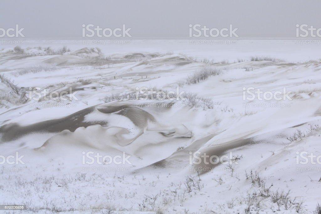 Dünen Im Schnee – Foto