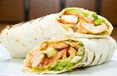 istock Döner kebap - Chicken Salad Sandwich Wrap 168663653