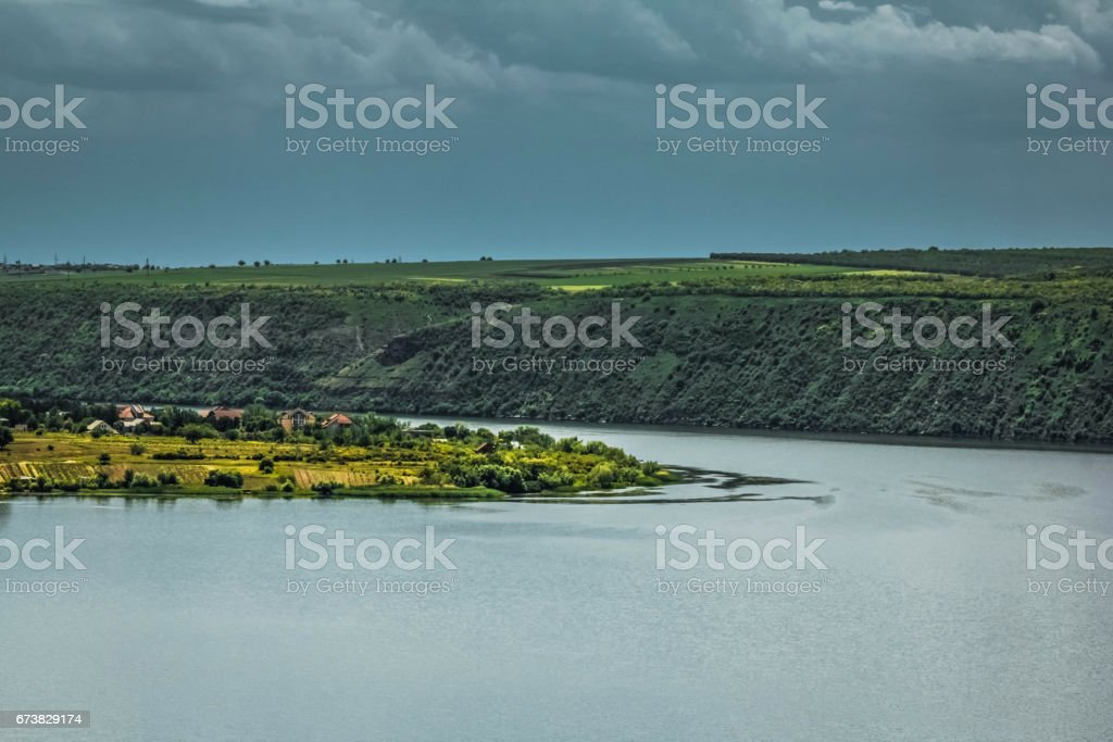 Dniester river landscape photo libre de droits