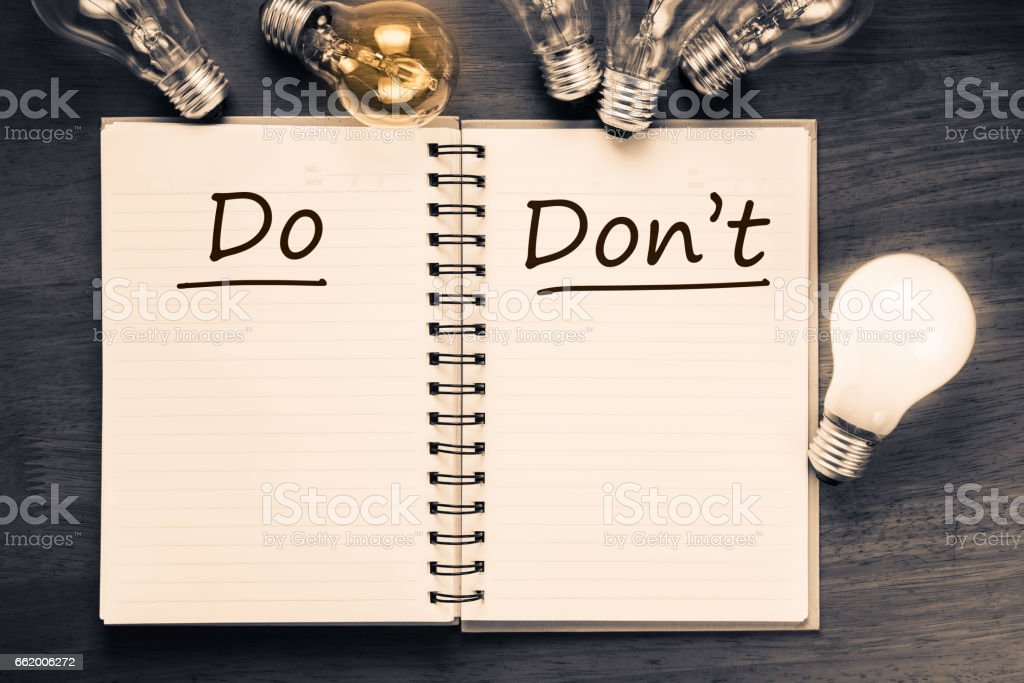 Do and Don't royalty-free stock photo