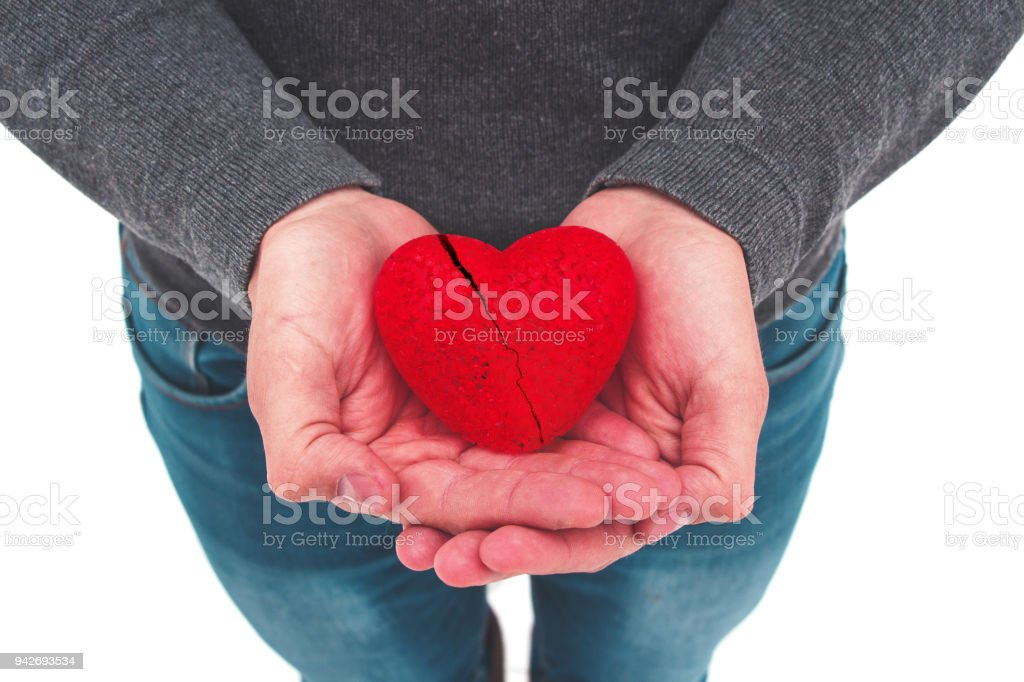 Do good things. Create well deeds. Charity and miracle. Broken heart. Cardiovascular disease. To make people happy. Unrequited love. Charitable foundation. Helping hand. Give love. Holiday. stock photo
