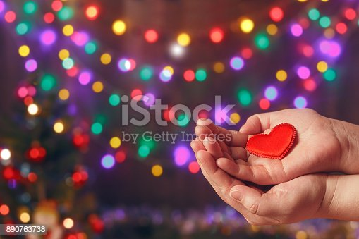 istock Do good things. Create well deeds. Charity and miracle. Christmas and New year mood. Festive background. To make people happy. Xmas miracle. Charitable foundation. Helping hand. Give love. Holiday. 890763738