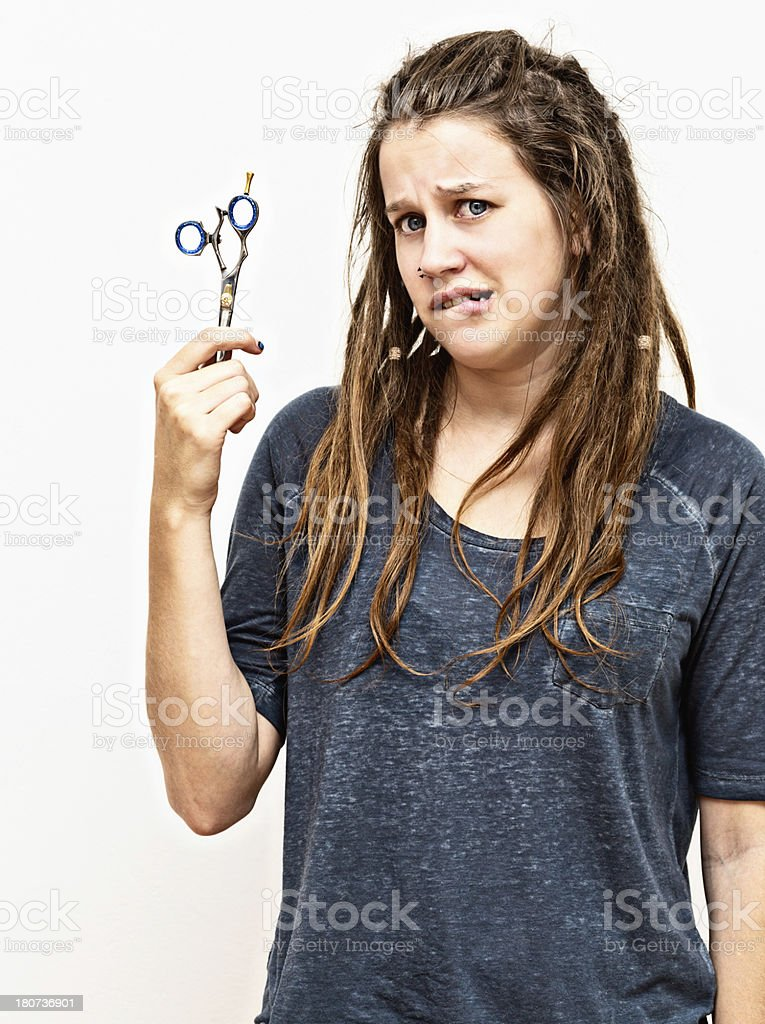 Do I have to cut off my dreadlocks? royalty-free stock photo