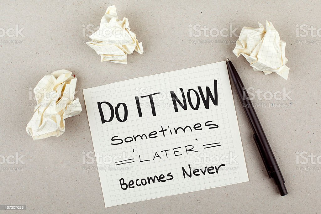 Do It Now stock photo