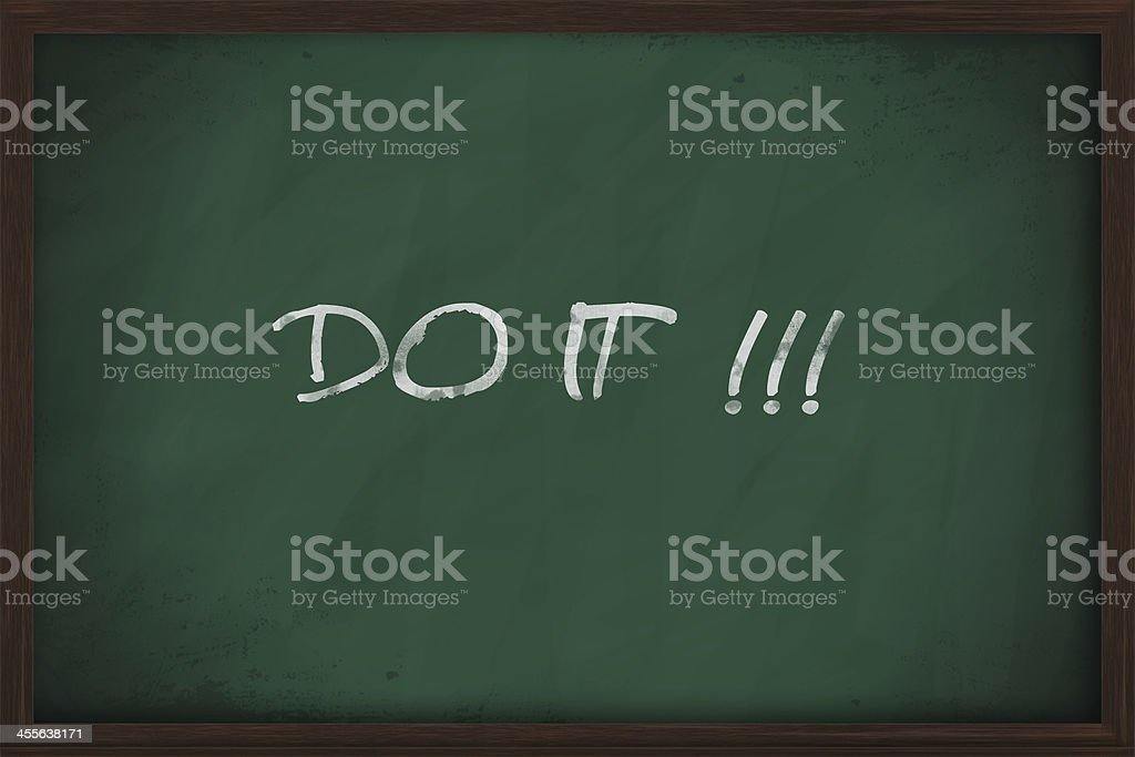 Do it phrase royalty-free stock photo