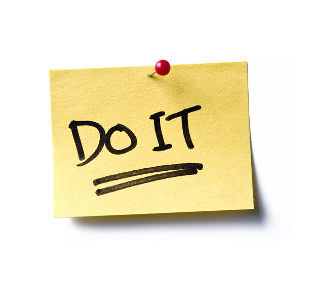 do it!  post-it  taking the plunge stock pictures, royalty-free photos & images