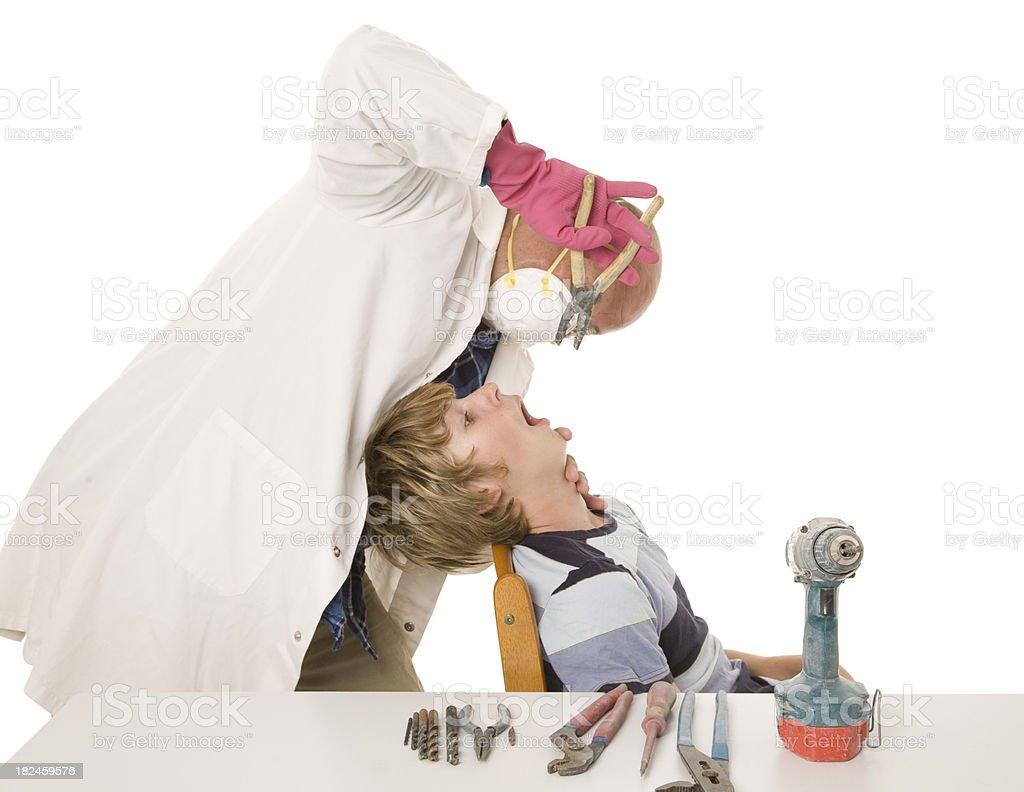 Bricolaje dentista foto de stock libre de derechos