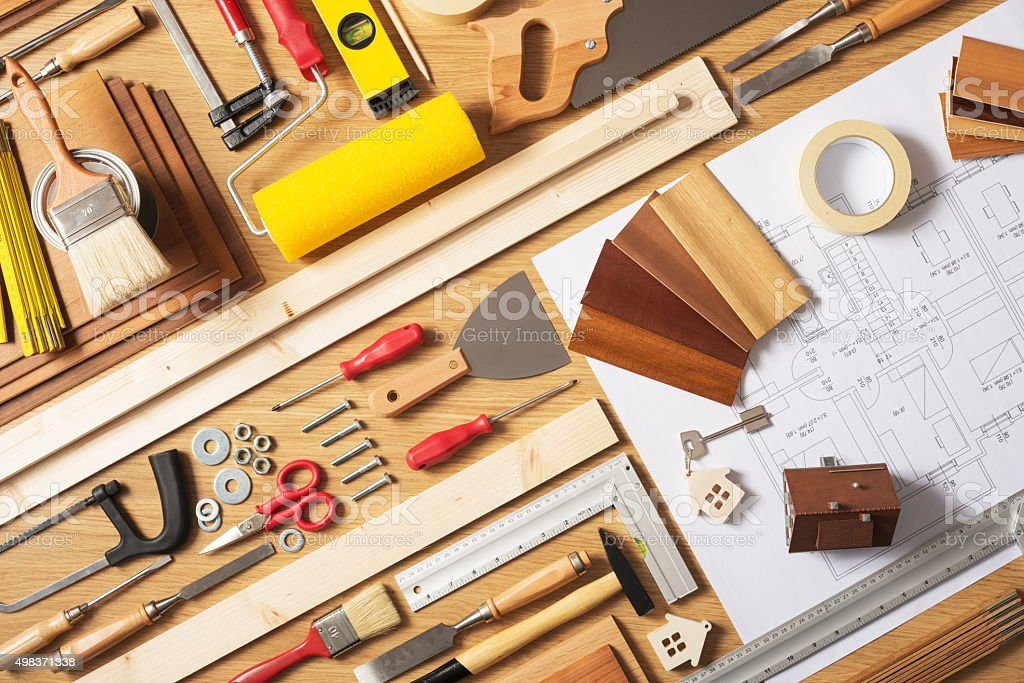Do it yourself home improvement stock photo