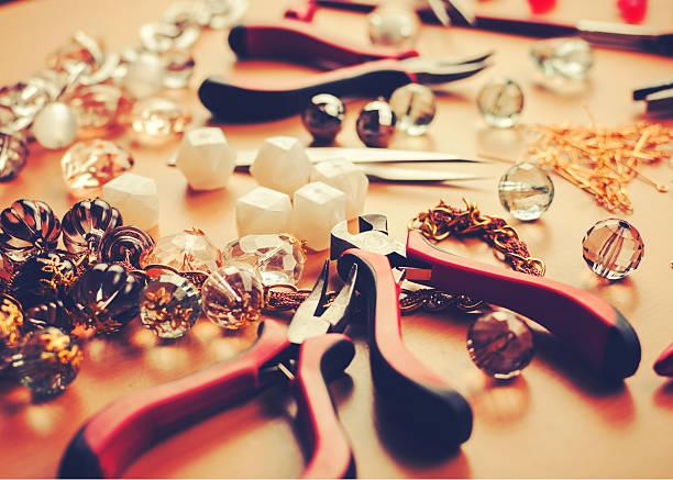 Do it yourself jewelry stock photo