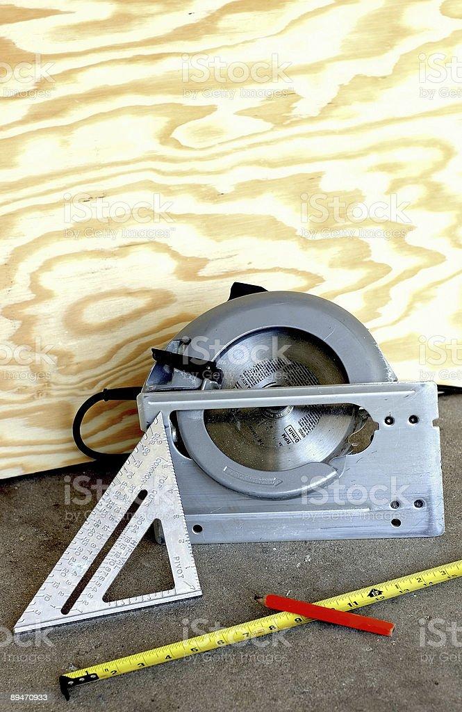 Heimwerken-Messen tools und sah Lizenzfreies stock-foto