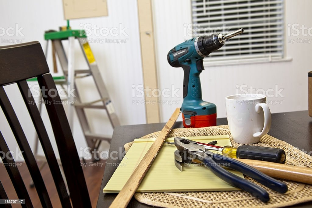 Do it yourself remodel job in a home. royalty-free stock photo