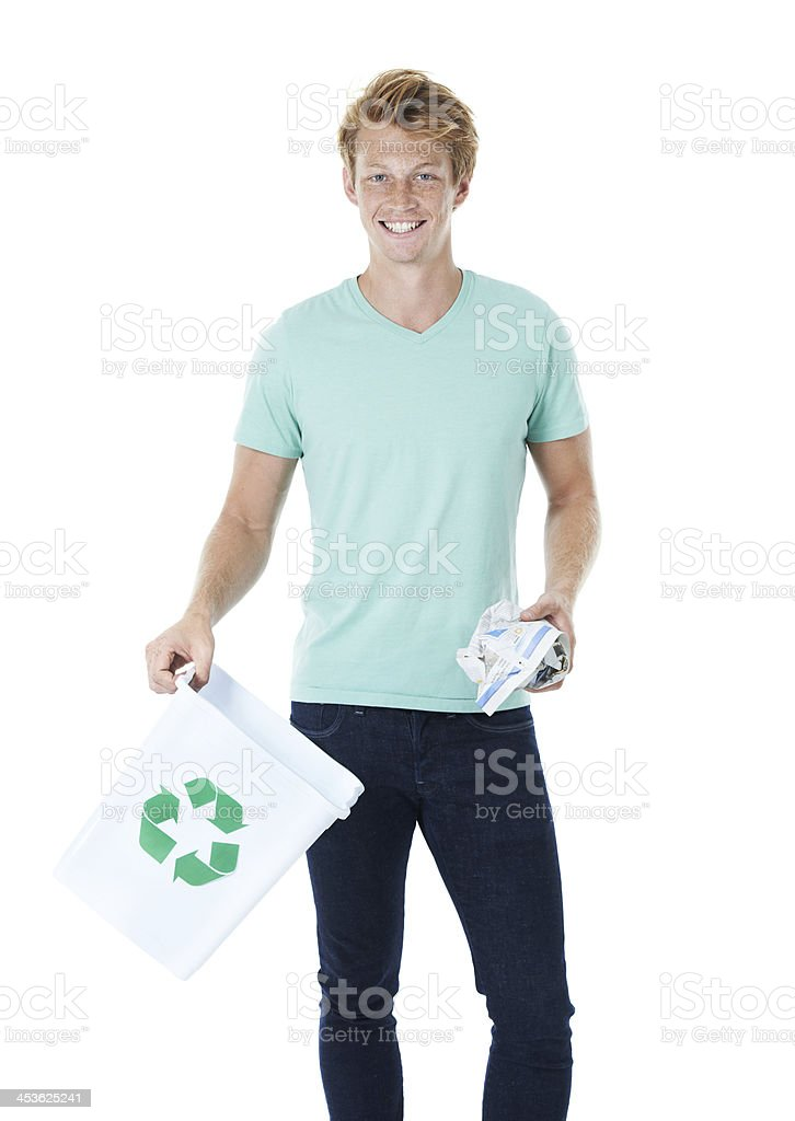 I do my part, and you? royalty-free stock photo