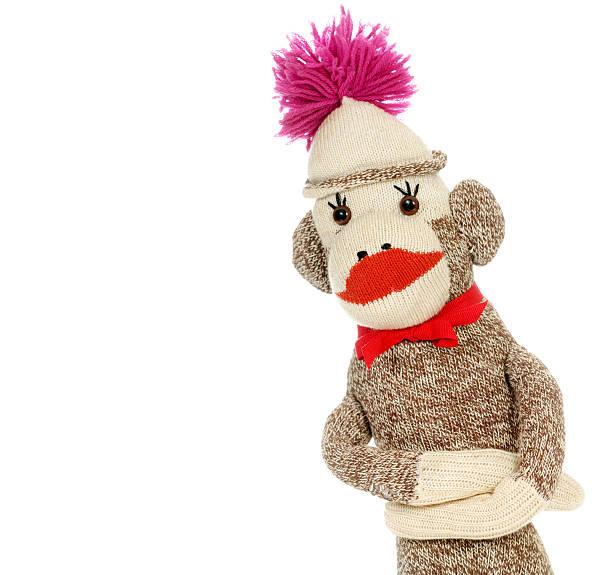 """Do No Evil"" Sock Monkey stock photo"