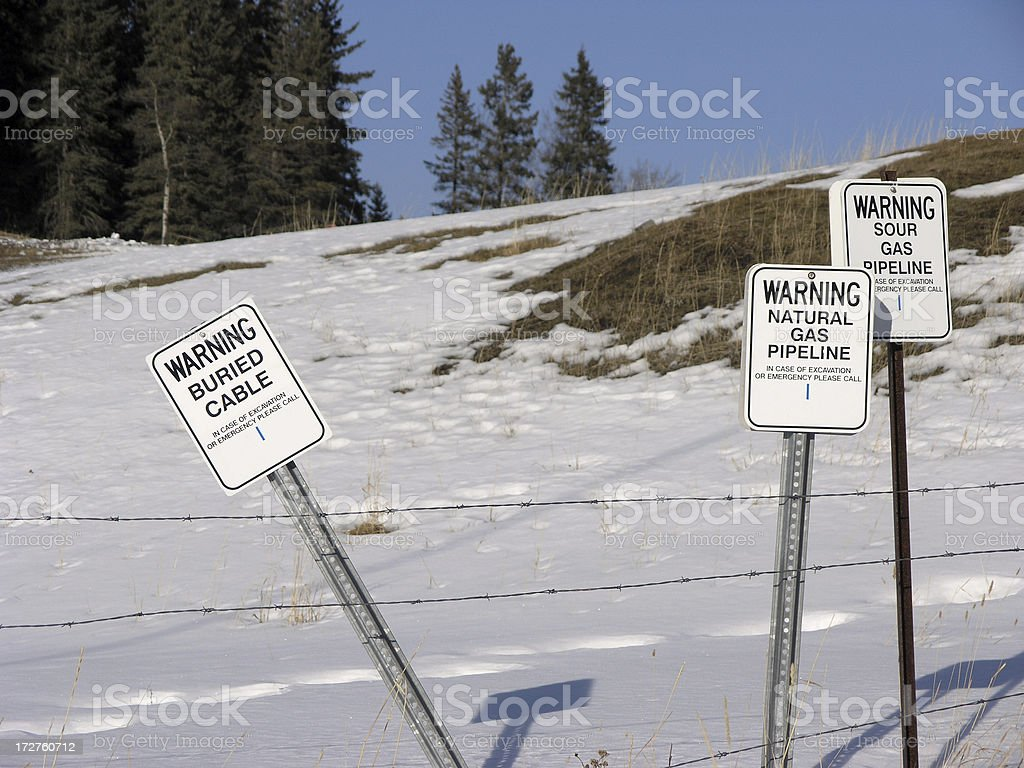 Do Not Dig stock photo