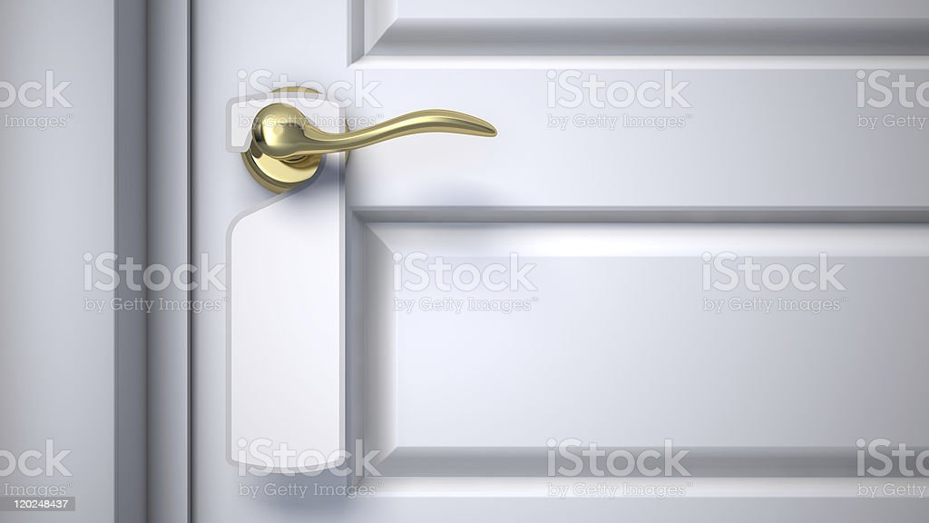 Do Not Disturb Blank Sign stock photo