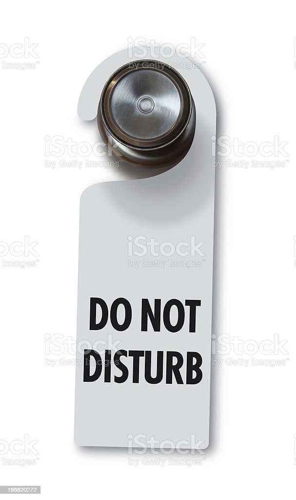 Do Not Disturb Door Tag stock photo